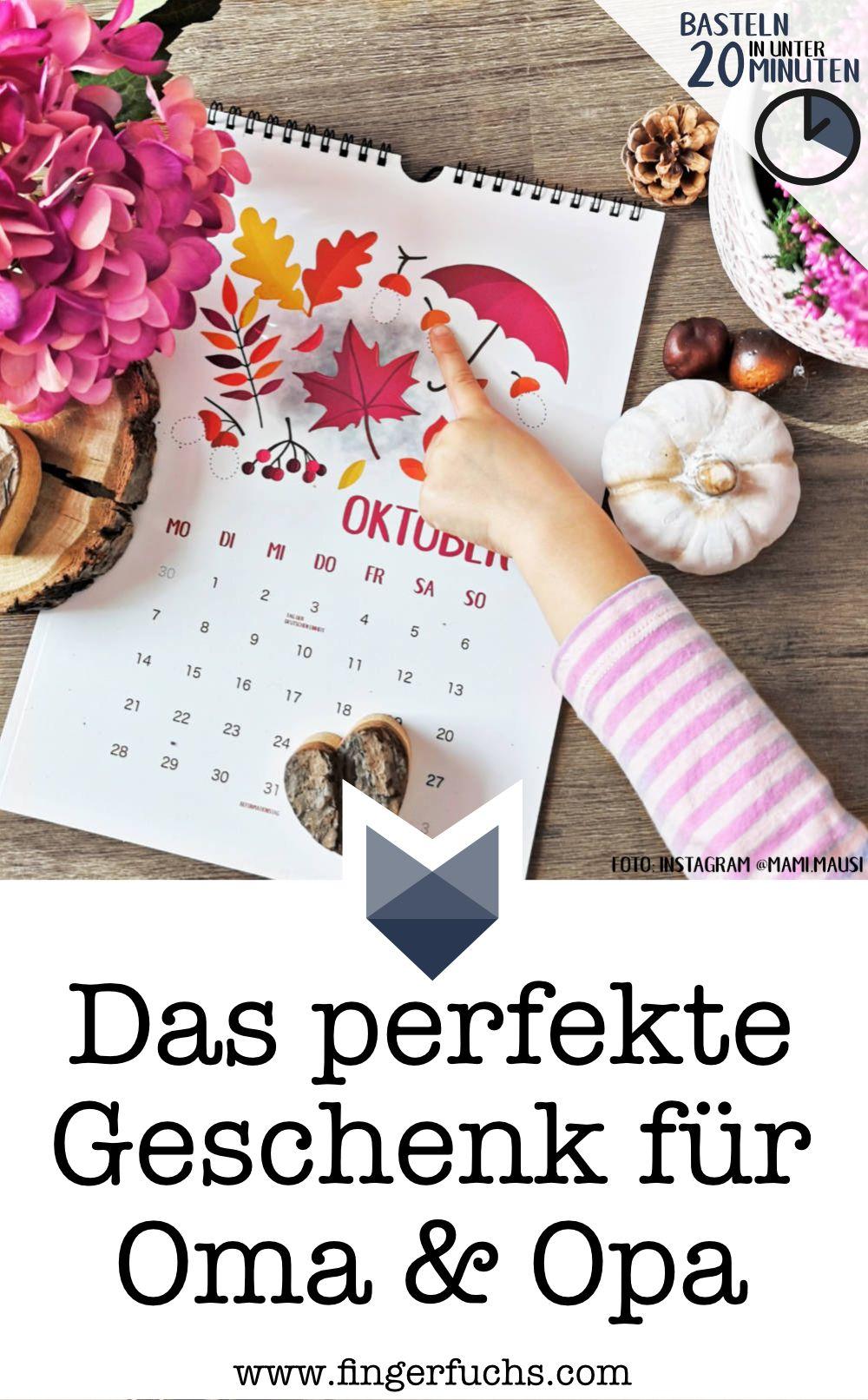 Kinder Geschenke Weihnachten 2019.Einfach Kalender Basteln Mit Kindern Fingerstempel Kalender 2019