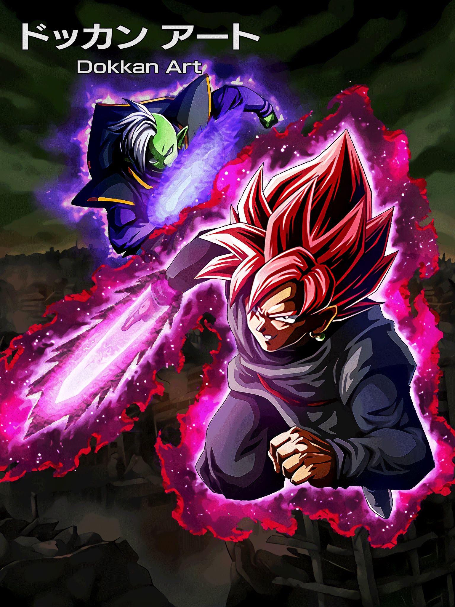Lr Goku Black Rose Zamasu Hd Animation Dokkanart Dragon Ball Anime Dragon Ball Dragon Ball Super