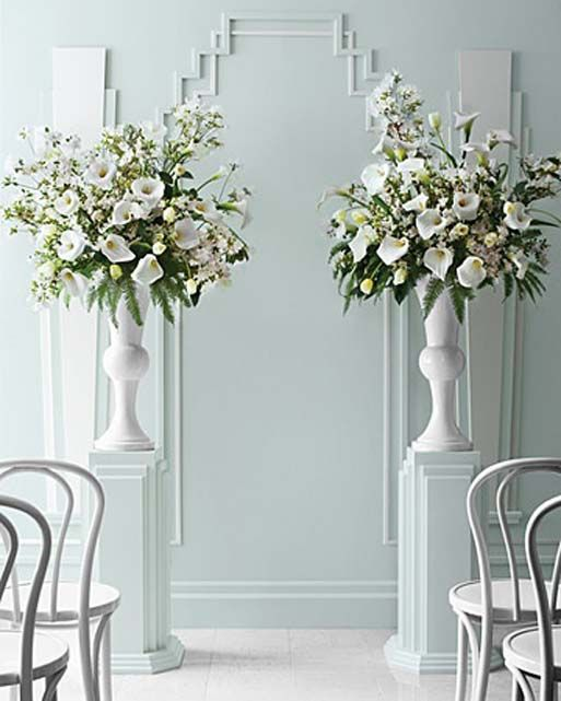 Altar Flowers Wedding Cost: Use My Pewter Urns - Purple