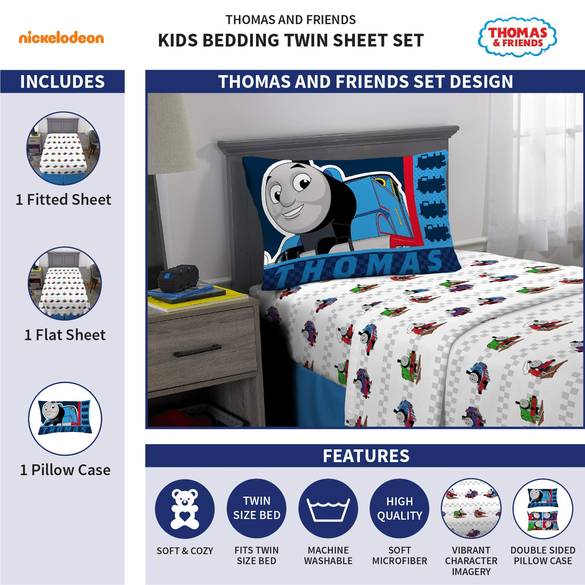 Thomas And Friends Kids Bedding Soft Microfiber Sheet Set 3 Piece