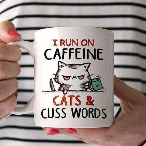 Cat Mug - I Run On Caffeine