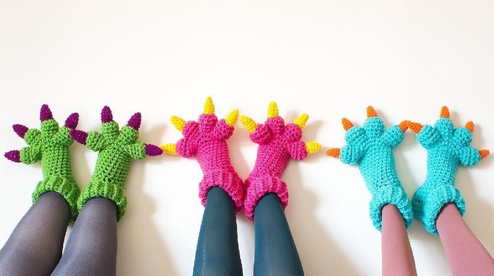 Monster Slippers | hobby | Pinterest | Kleine aufmerksamkeit, Schuhe ...