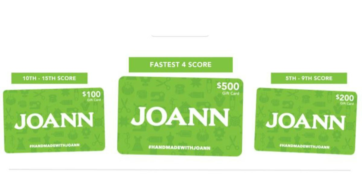 Joann fabrics gift cards lego sets are up for grabs
