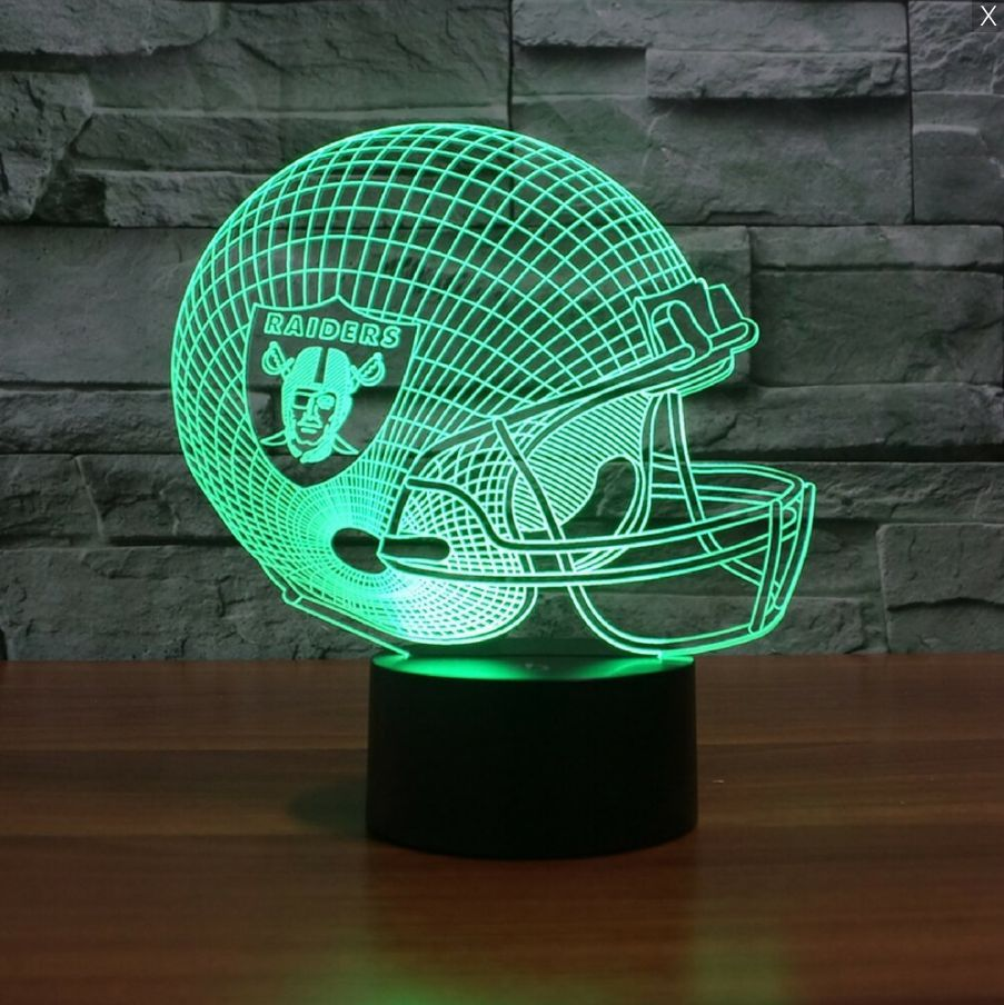 Nfl Oakland Raiders 3d Led Light Lamp 3d Led Light Led Light Lamp Led Night Light