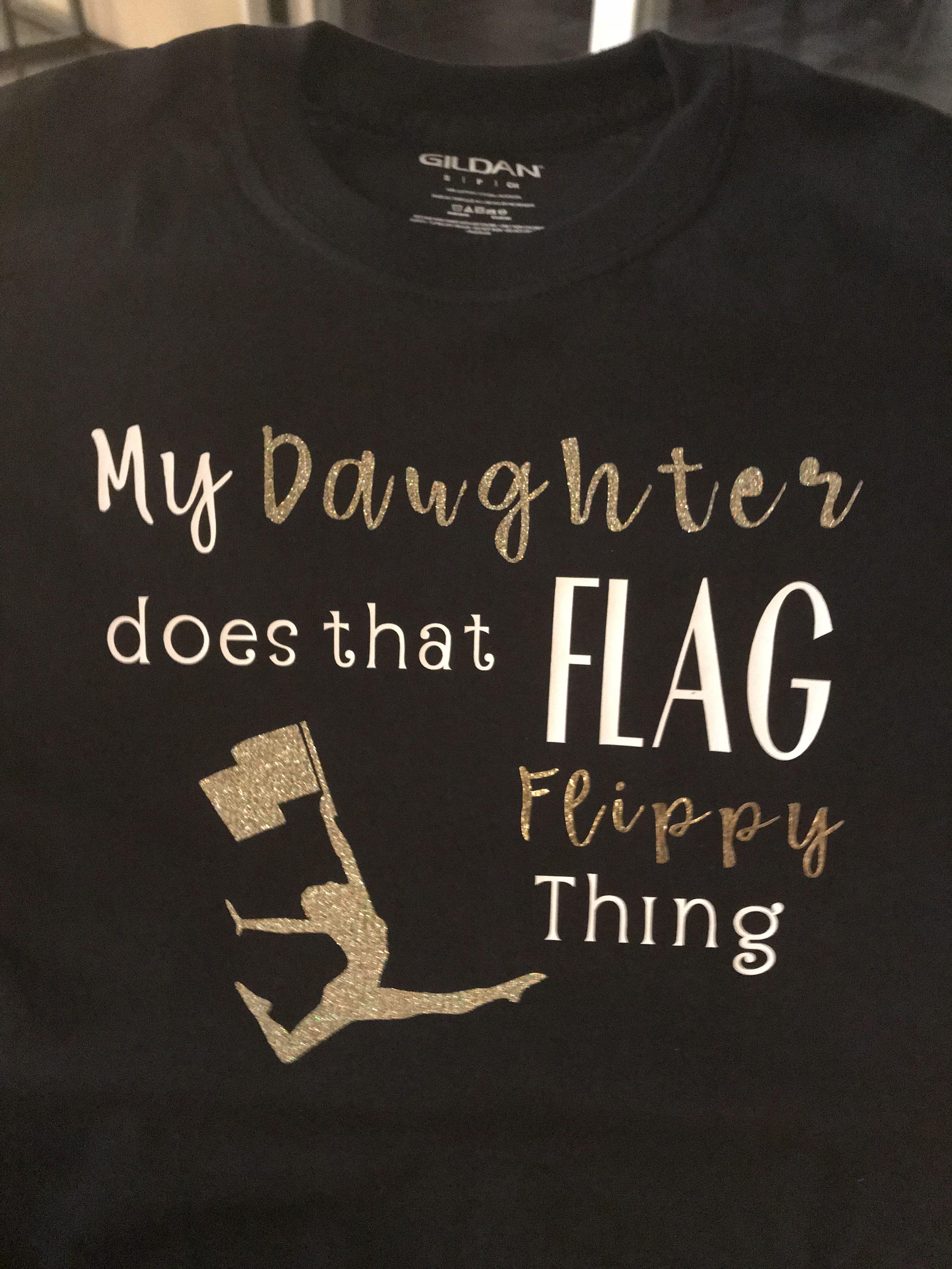 a78dd6b0 Color Guard Mom shirt made with heat transfer vinyl. | Circut a ...