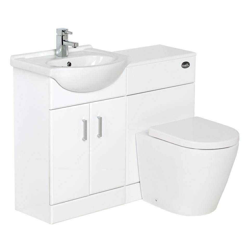Sienna Arc White Gloss Combination Vanity Unit Large - love this ...
