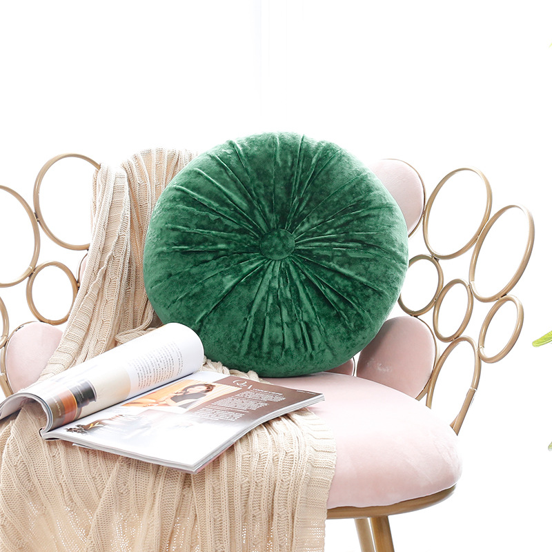 Round Pumpkin Decorative Pillow for Sofa Chair Back Seat Cushion Lumbar Pillows Kids Room