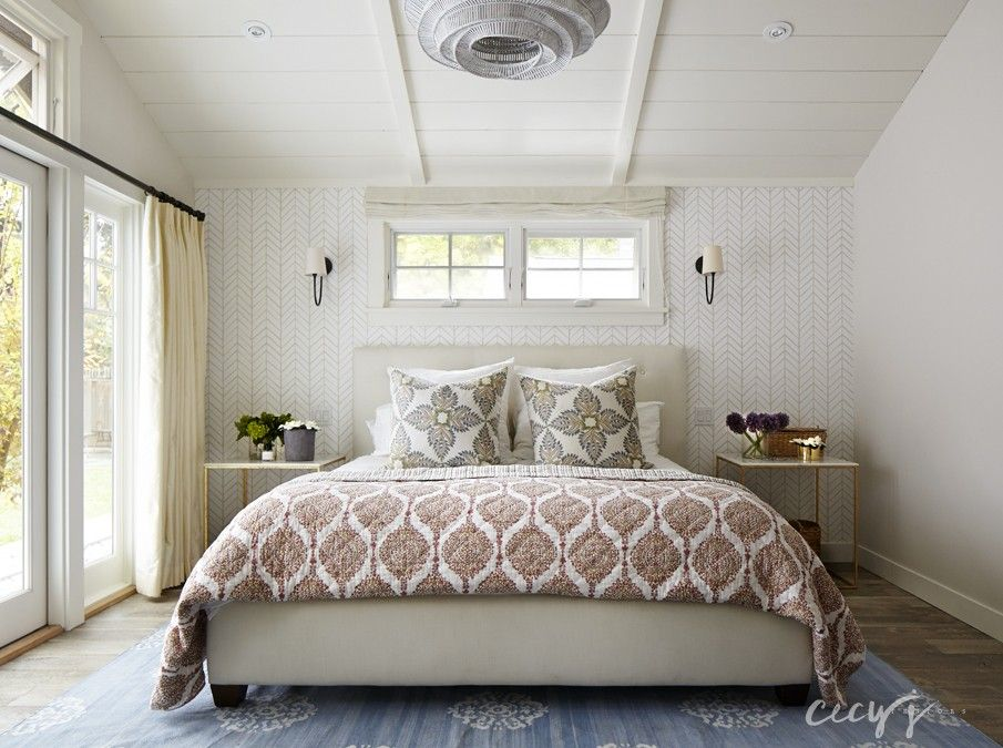 Serena And Lily Wallpaper, Side Tables, Drapes..casual