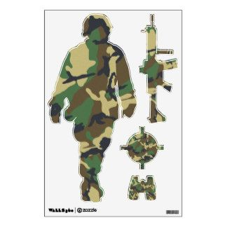 Purchase yourself a bunch of Army Soldier wall decals from Zazzle! Our wall stickers are great for any room in your home or office!  sc 1 st  Pinterest & Camouflage Soldier and Weapons Stickers | Army | Pinterest | Army ...
