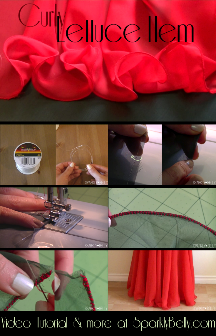 How to Sew a Curly Lettuce Hem with Fishing Line | Pinterest ...