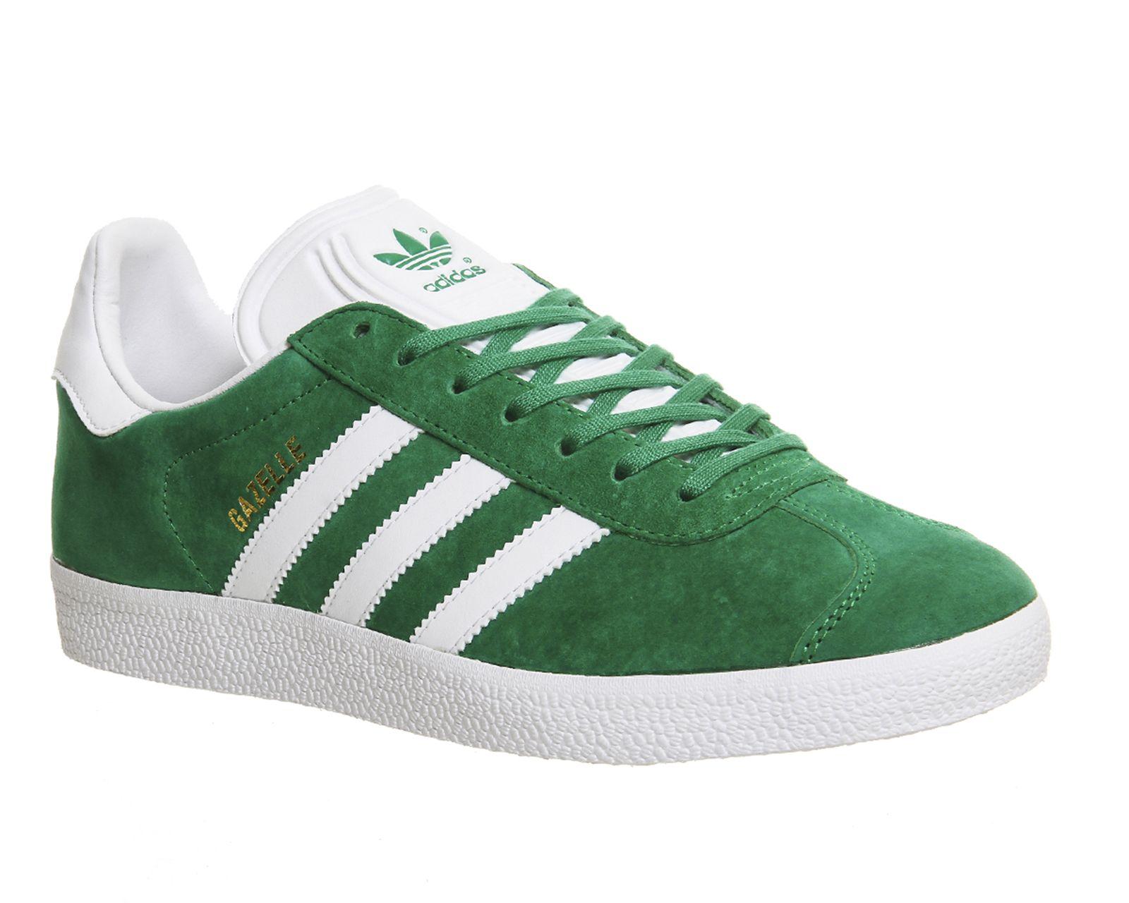 Adidas Gazelle Green White - His trainers