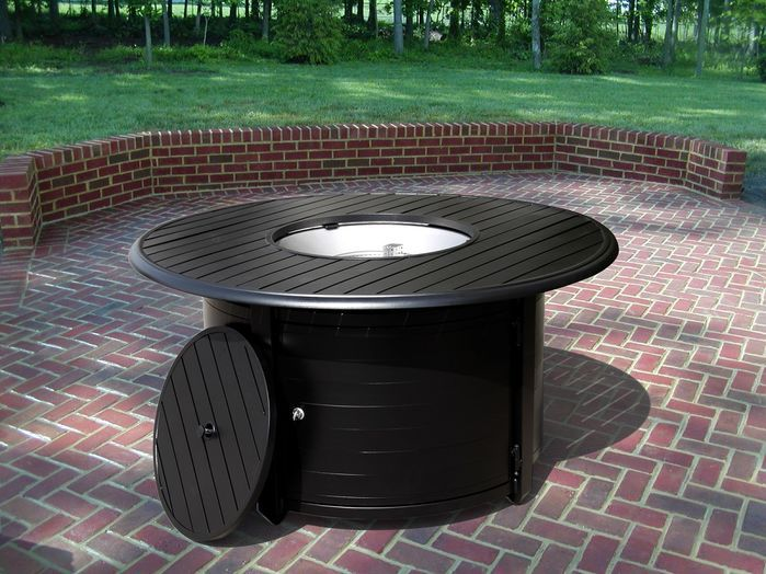 Extruded Aluminum Propane Fire Pit Table | Fire pit table ... on For Living Lawrence Fire Pit id=37715