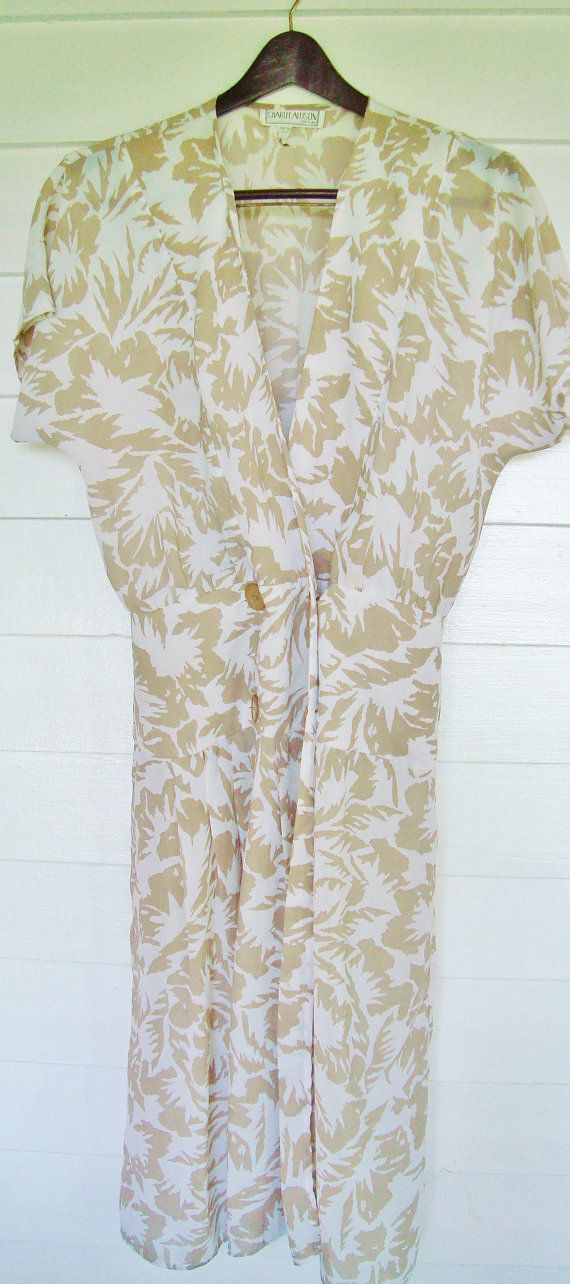 Vintage Sheer  Wrap Dress from the 1980s