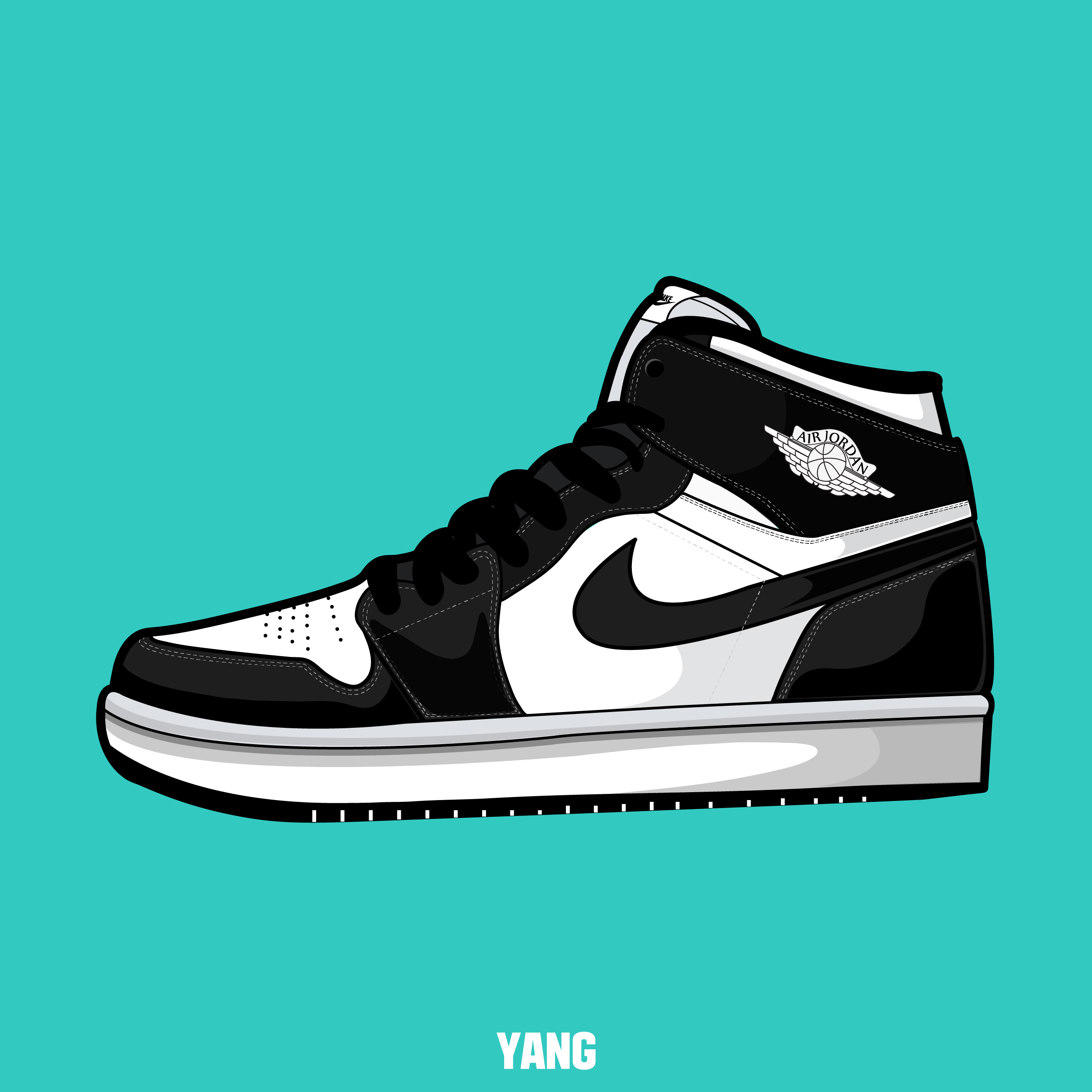 Drawn up air jordan 1 black