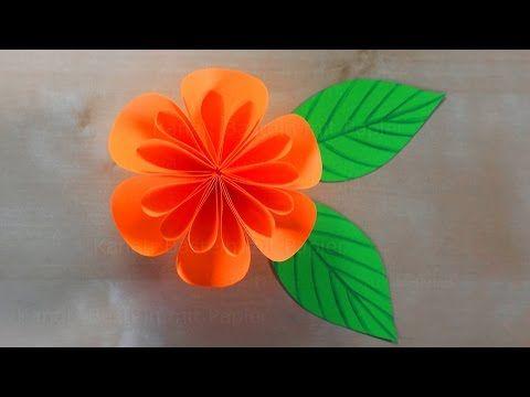 Lieblich Basteln Mit Papier: Blumen Falten   Bastelideen: DIY Geschenk Selber  Machen. Basteln Mit Kindern   YouTube