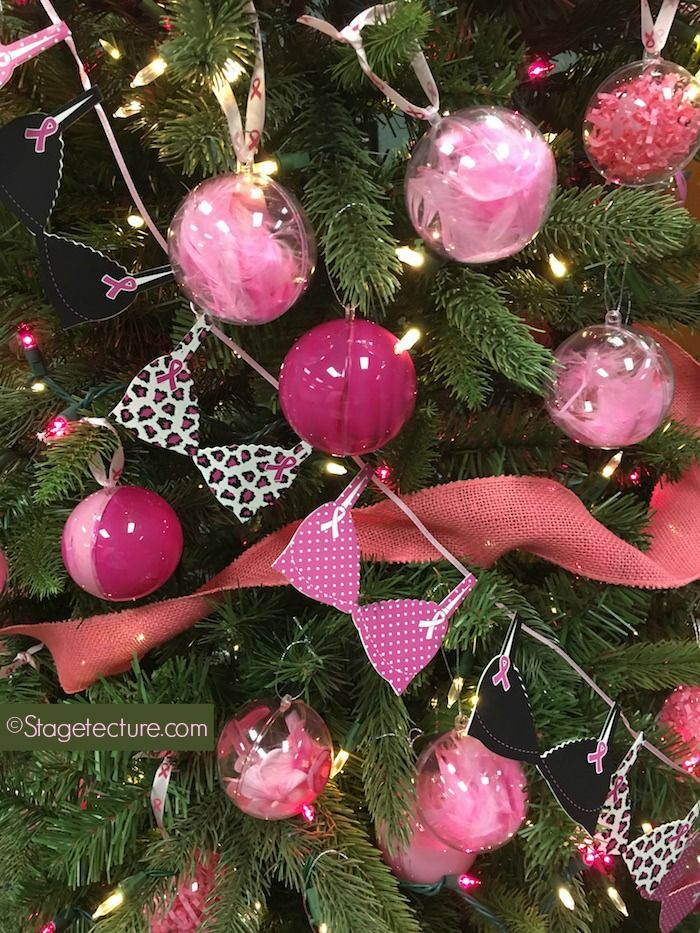 How we honored breast cancer awareness month. Creative Christmas tree ornament and Christmas decorating ideas & Tree Classics: How We Honored Breast Cancer Awareness Month ...