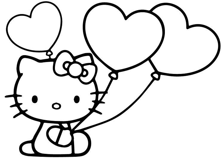 Hello Kitty Get Well Soon Coloring Pages Buku Mewarnai Halaman Mewarnai Gambar Kartun