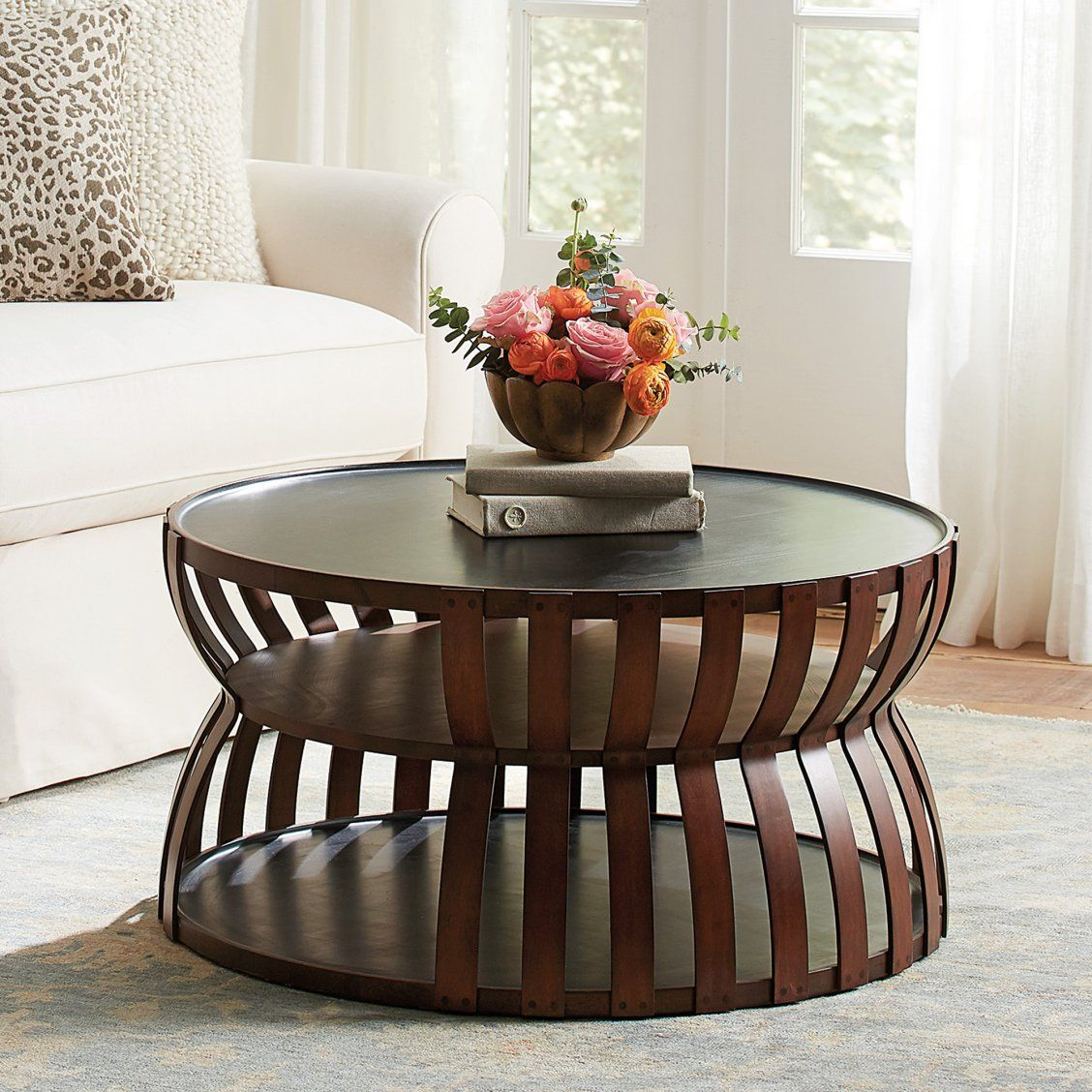 Imani coffee table in 2020 round coffee table round