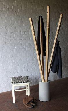Echt Land Produkte Garderobe Aus Holz Und Beton Garderobe Holz