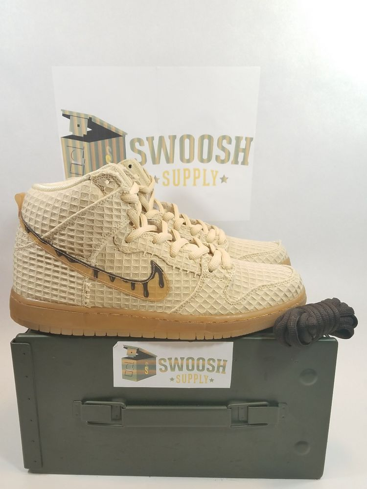 release date: 322a9 0788f ... flat gold star classic brown 25099 aa2ea  discount nike dunk high  premium sb chicken waffles 313171 722 new sz 10 mens nike athleticsneakers