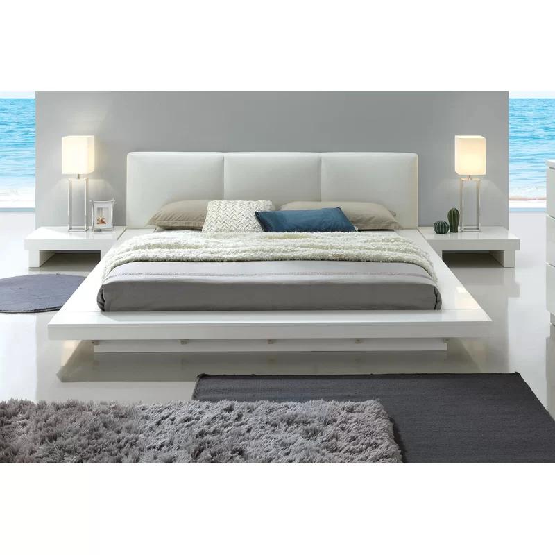 Alayah Tufted Upholstered Platform Bed Upholstered Platform Bed