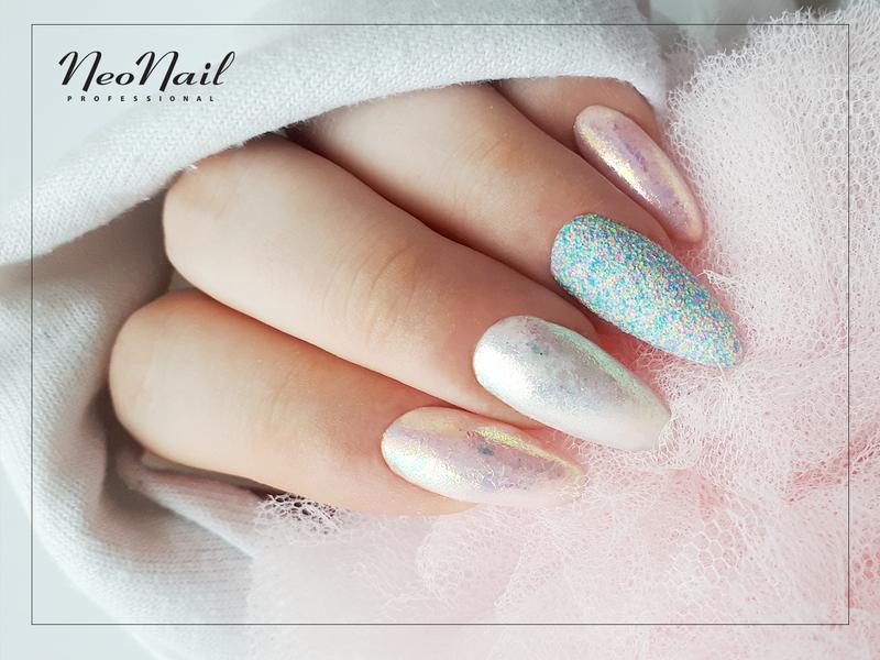 Lsniaca Stylizacja Paznokcie Hybrydowe Electric Effect Neonail Nailart Nails Beauty Sand