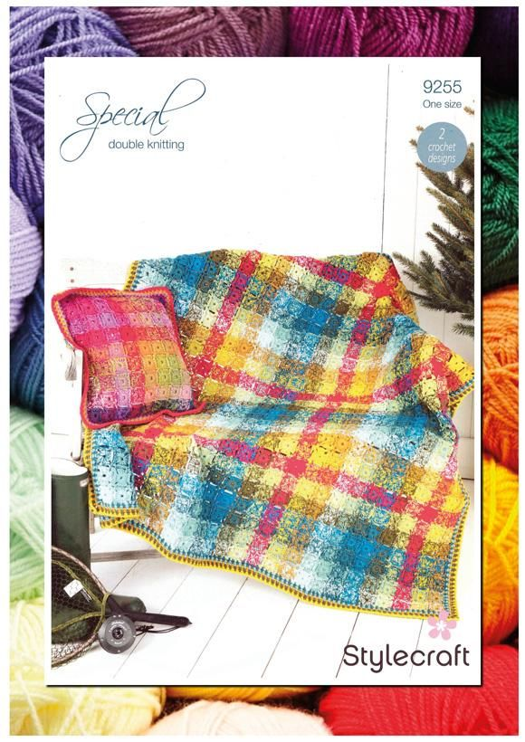 TARTAN THROW: One of my patterns for Stylecraft, newly released ...