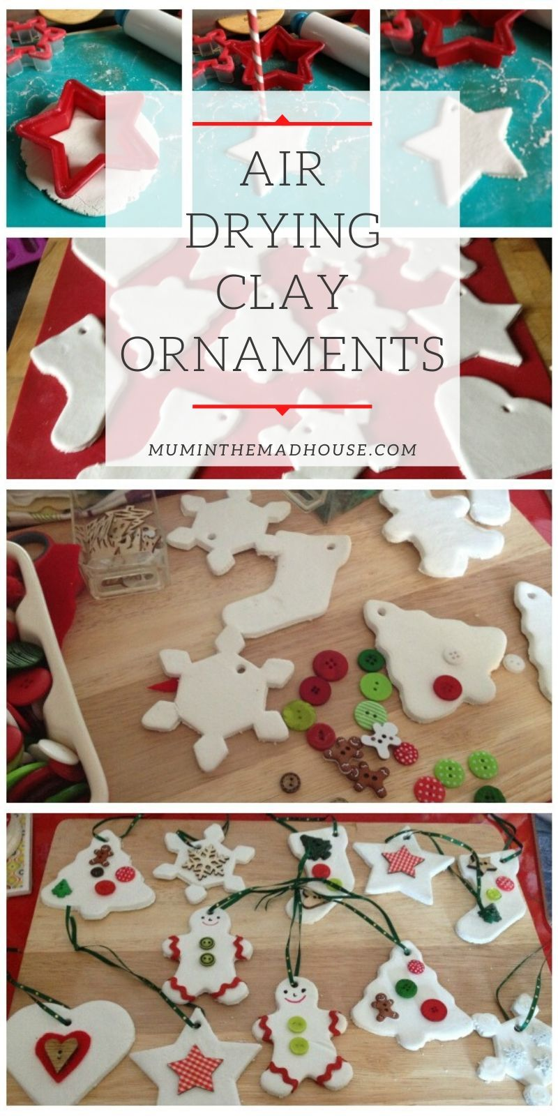 Air drying clay ornements Clay ornaments, Air dry clay, Clay