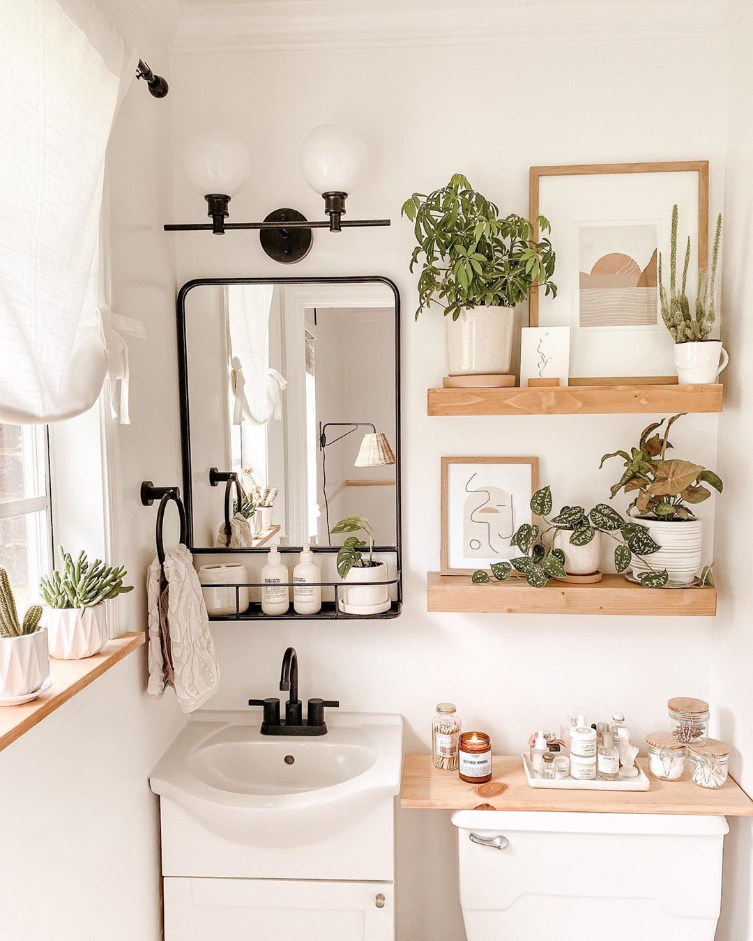 Hannah Thistle Harvest S Instagram Profile Post I Cleaned My Bathroom Ran The Dishwasher And Have Kept The In 2020 Bathroom Shelf Decor Furniture Throws Bathroom