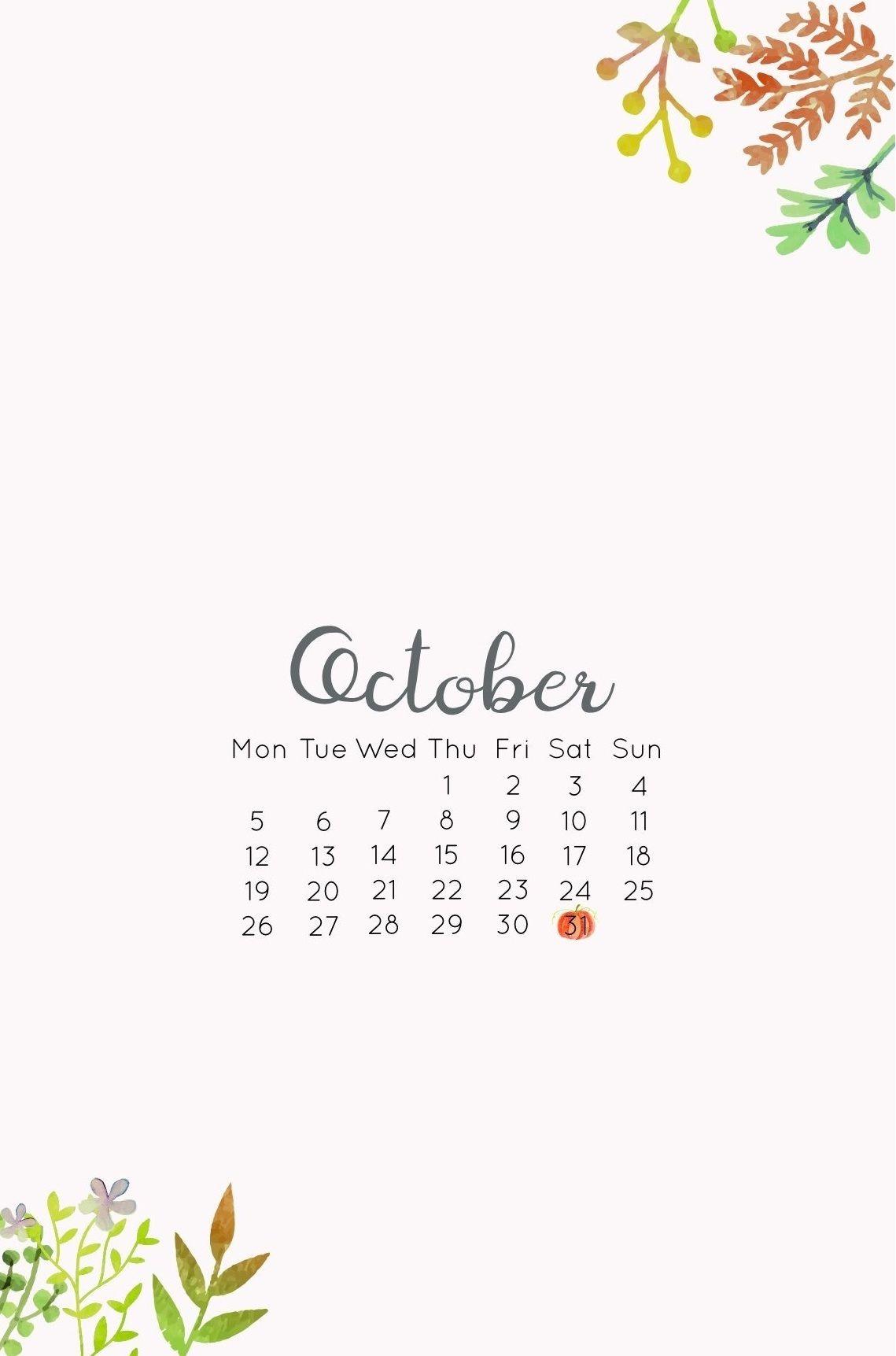 Iphone October 2020 Wallpaper In 2020 Calendar Wallpaper October Wallpaper October Calendar