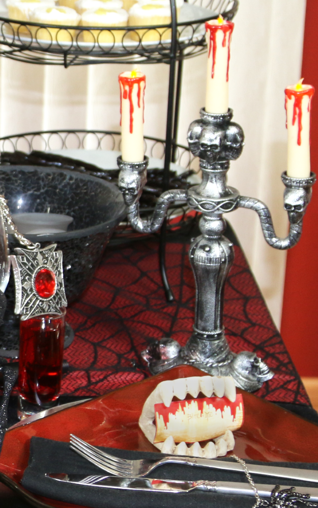 How to Create an Elegant Gothic Halloween Tablescape | Candelabra ...