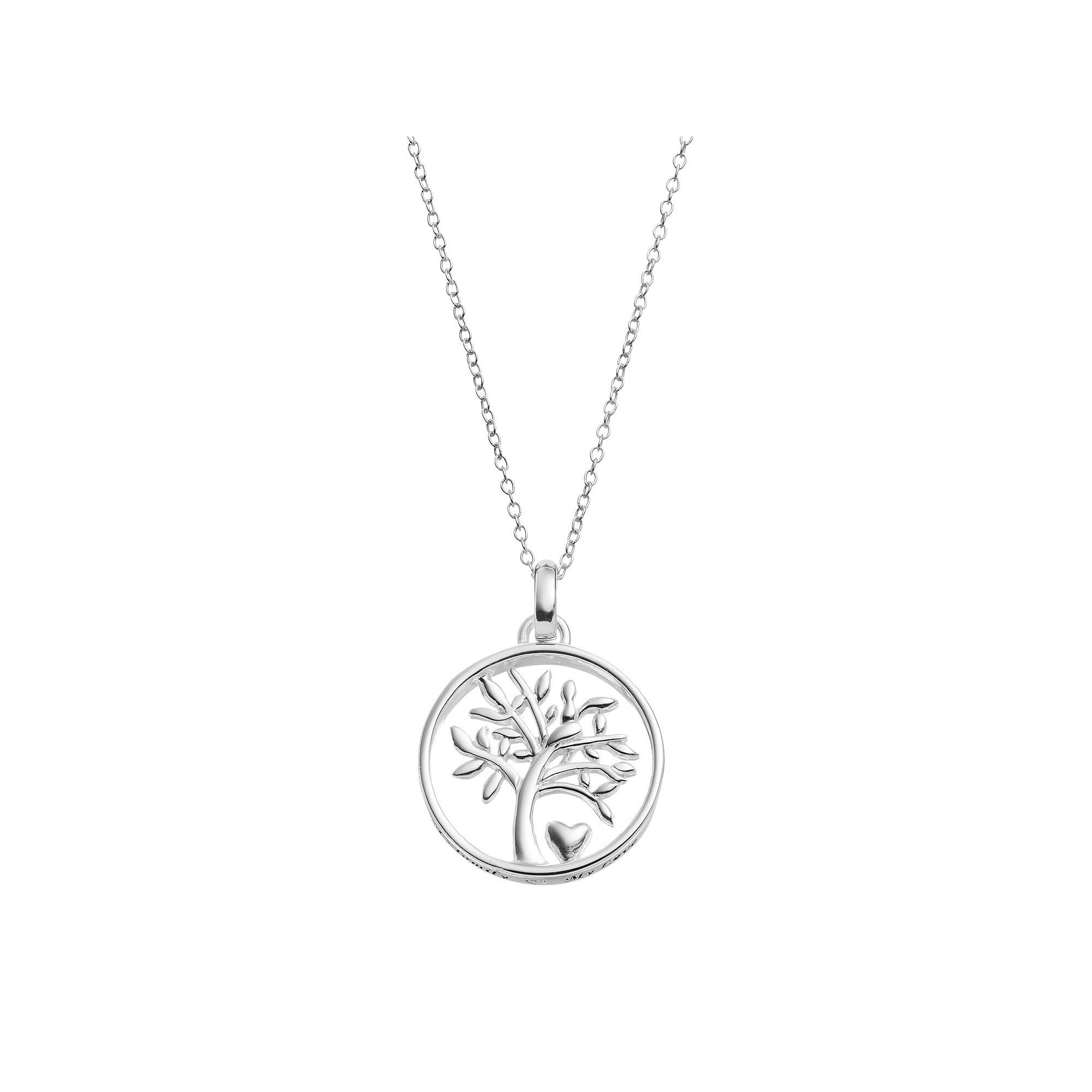 jewelry family initials necklace small with tree products kids pendant danique birthstones