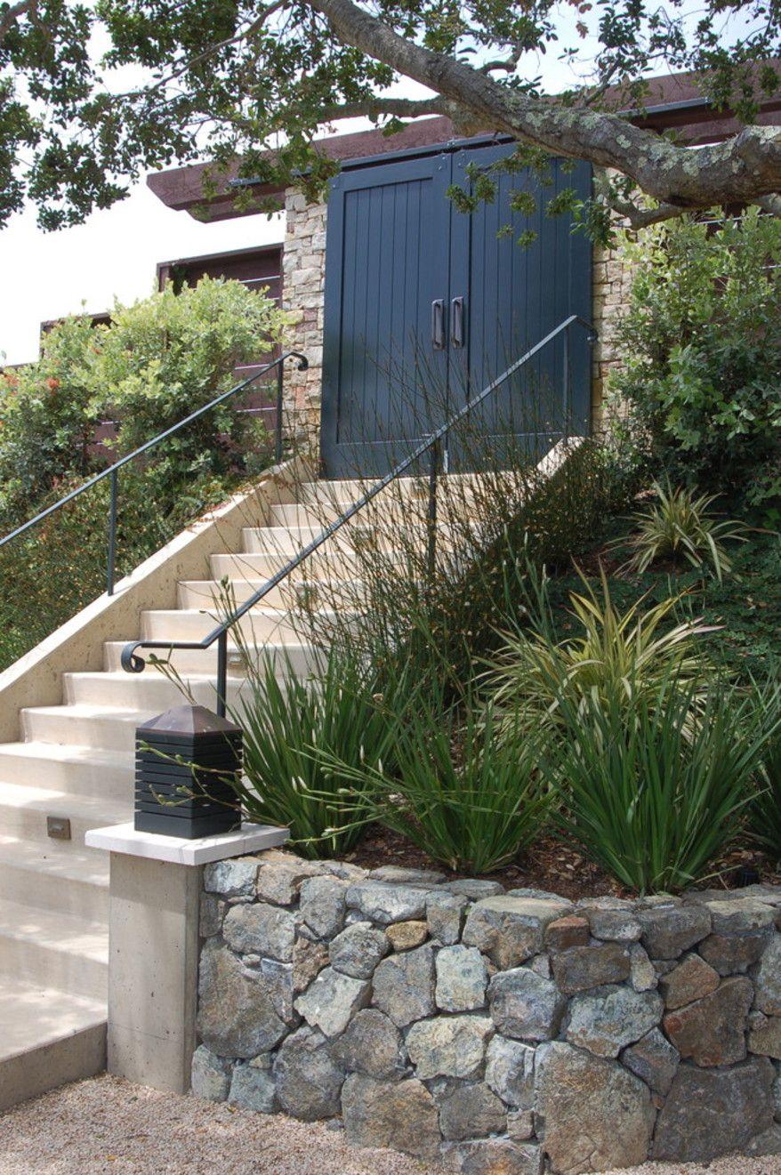 Bay Area Hillside Garden Mediterranean Landscape San Francisco