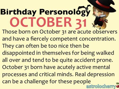 astrolocherry , Birthday Personology October 31 Sun: Scorpio