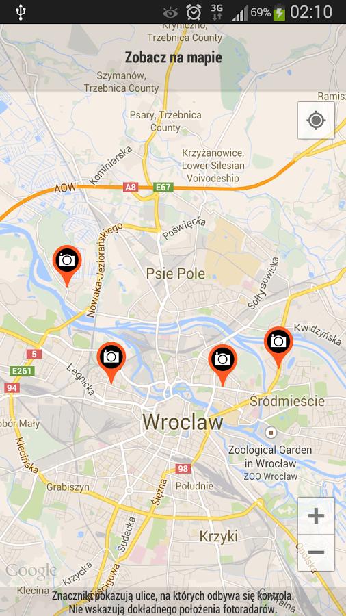 Mapa Fotoradarów w Polsce