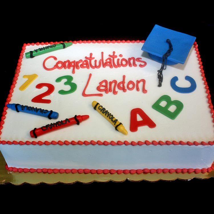 Kindergarten Graduation Cake Preschool Graduation Cake Graduation Cakes Preschool graduation sheet cake