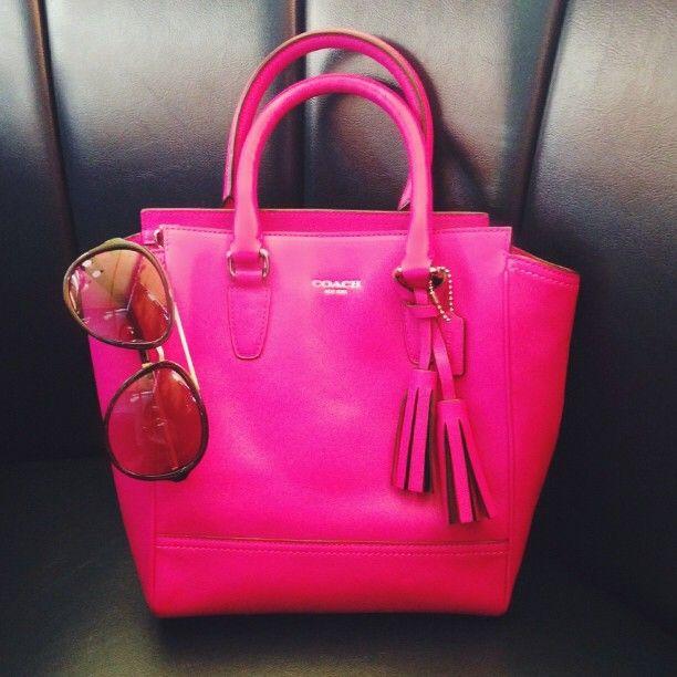 Mini Tanner In Hot Pink Coach