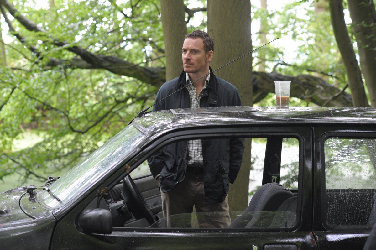 Michael Fassbender as Chad Cutler in Trespass Against Us, directed by Adam Smith