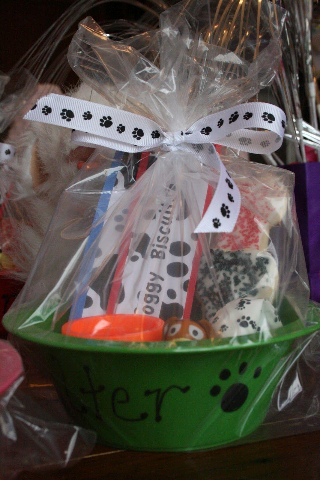 Doggy Bowl Goodie Bag Puppy Birthday Parties Puppy Birthday