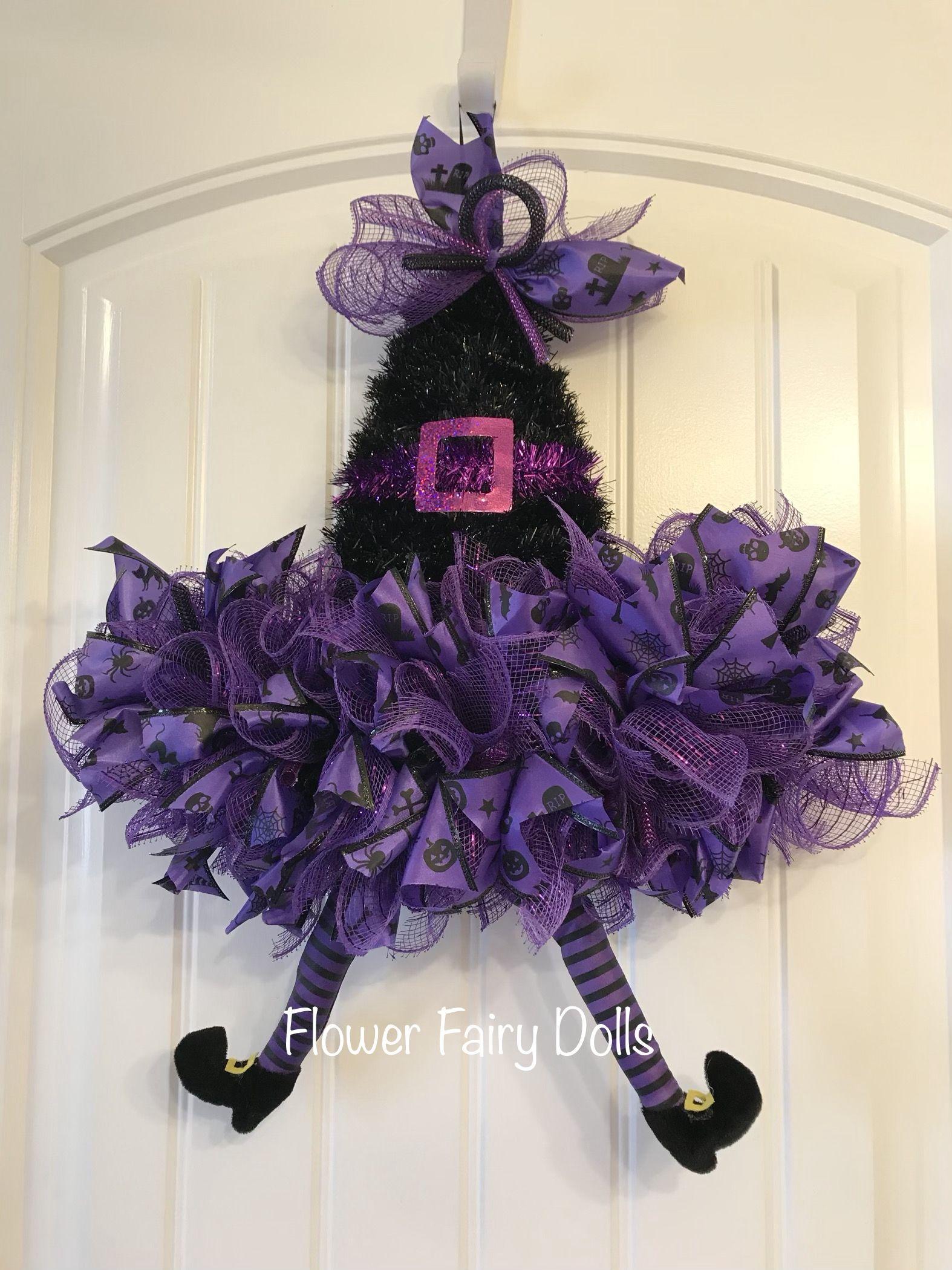 Halloween Witch Hat Wreath Halloween Decorations Wreaths Halloween Witch Hat Wreath Halloween Hats