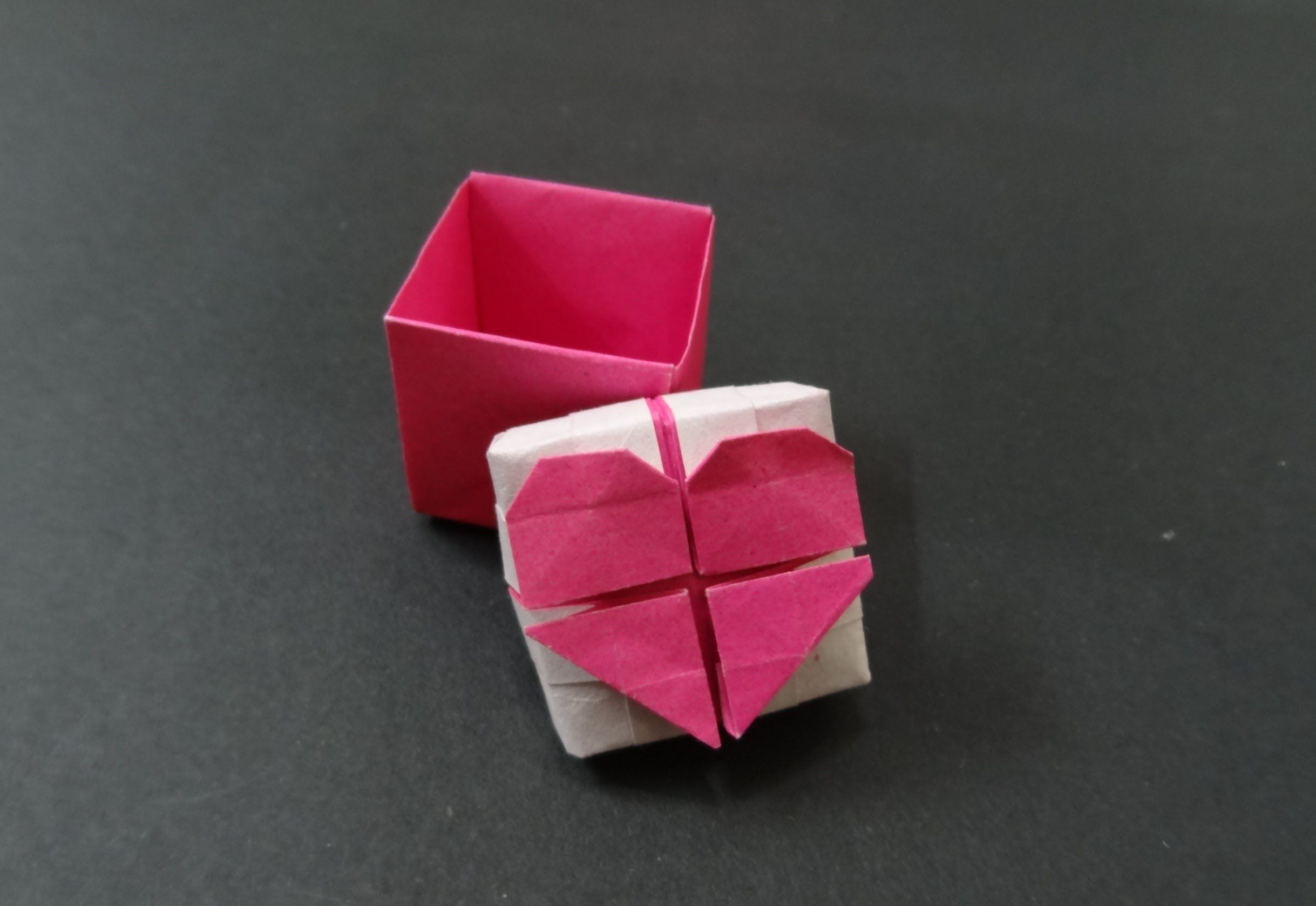 origami heart tutorial how to fold origami heart box