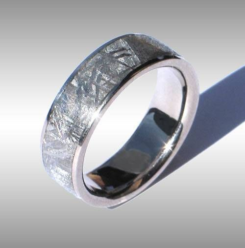 Finest Quality Meteorite Ringeteorite Wedding Bands For At Aesthetic Meteorites We Specialize In Providing The To