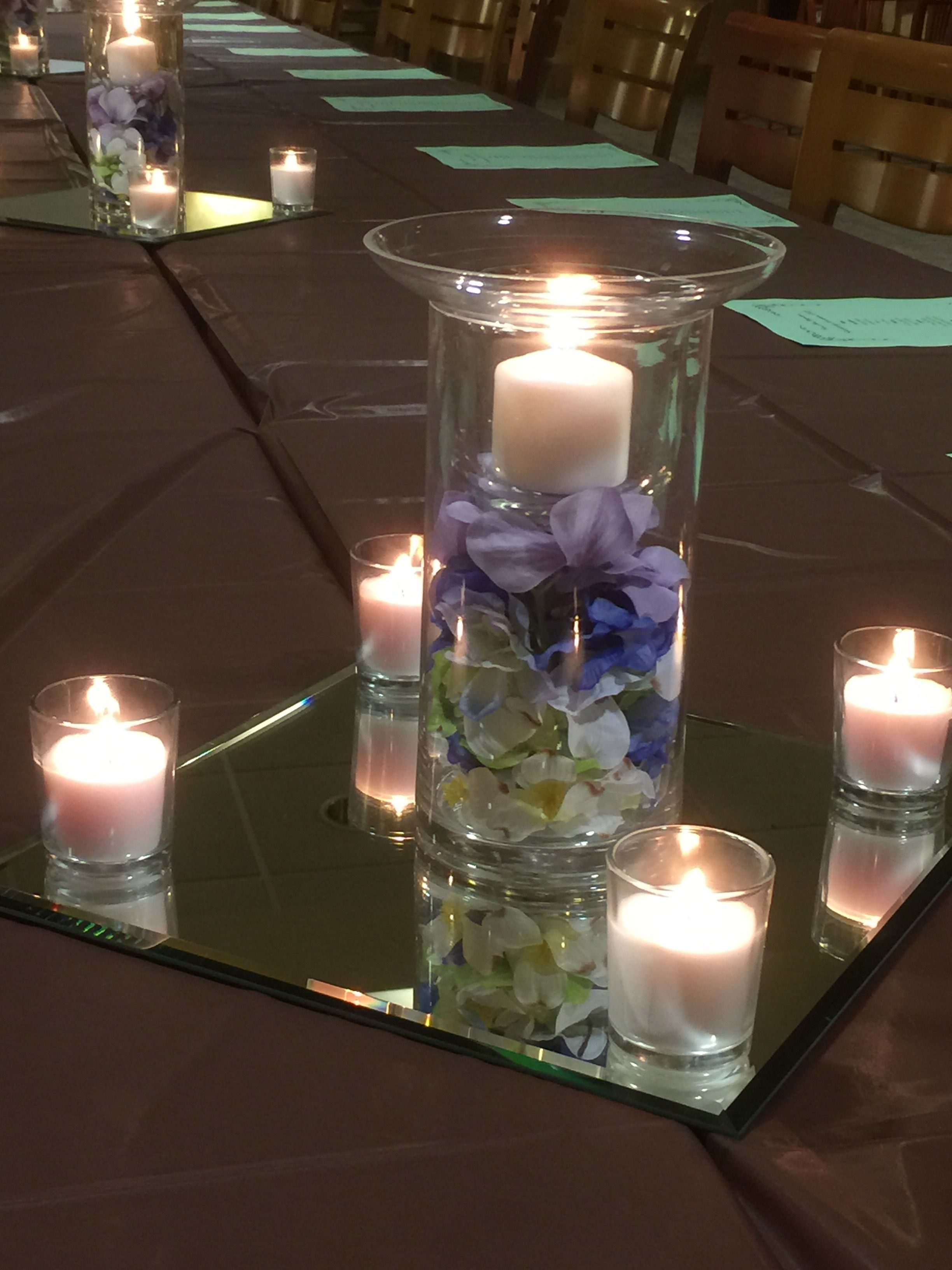 Easy Centerpiece For A Scholarship Luncheon Simple Centerpieces Centerpieces Happy 10th Anniversary