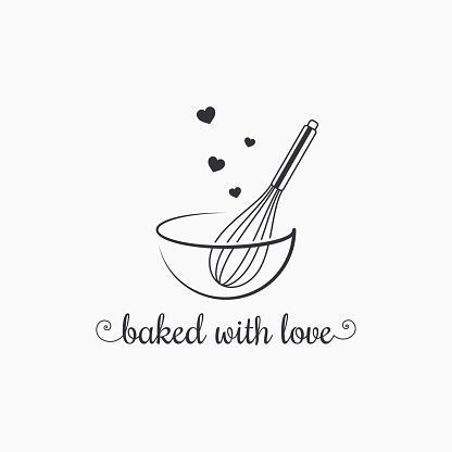 Baking With Wire Whisk Logo On White Background 8 Eps Background Baking Baking Logo Eps Logo Whisk White Baking Logo Design Cake Logo Design Whisk Logo