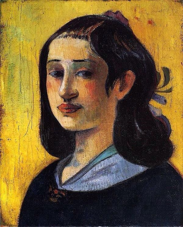 Portrait of Aline Gauguin / Paul Gauguin - 1890