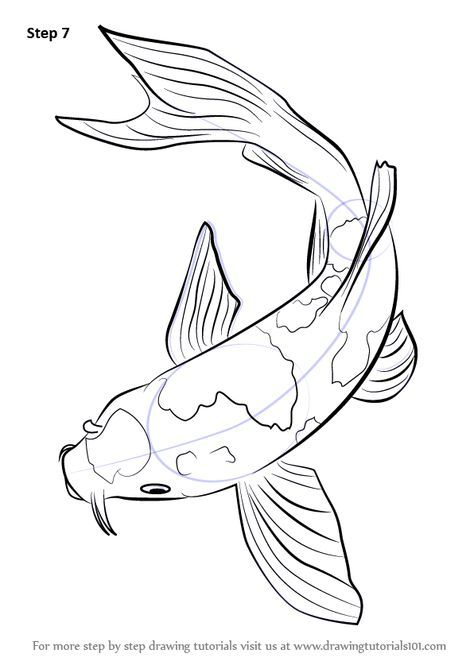 Step by Step How to Draw a Koi Fish : DrawingTutorials101.com | Art ...