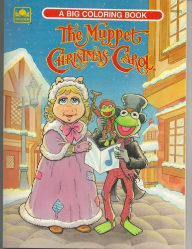 Muppet-Christmas-Carol-Coloring-Book-Vtg-MINT-1993-Golden-Book-Made-in-USA | Muppet christmas ...