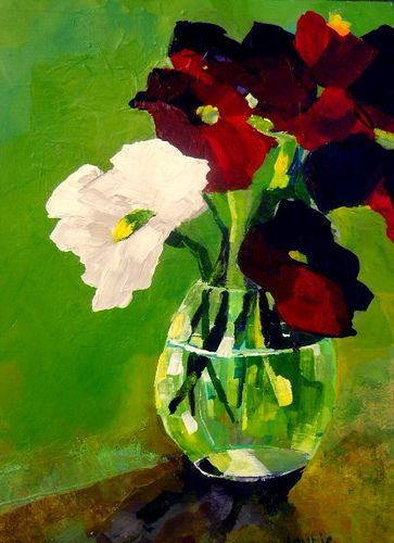 Title: One White Flower Media: ? Size: 12x15 Price: $225.00