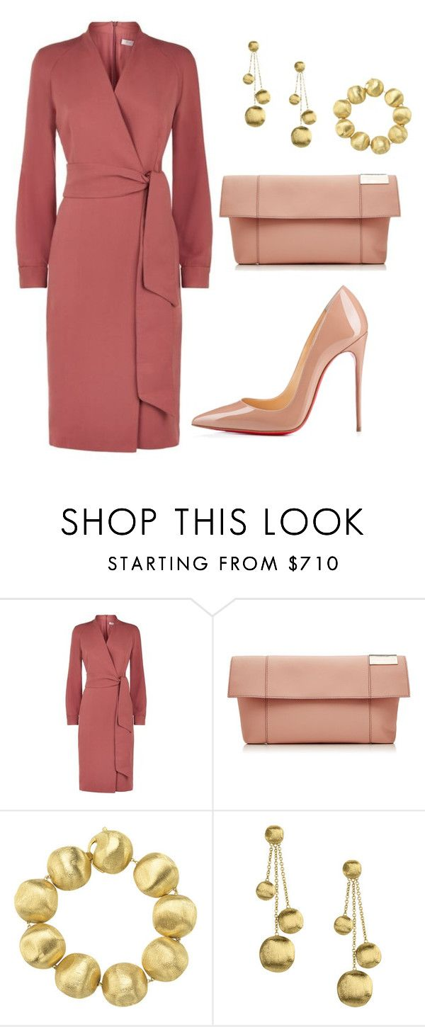 """""""style theory by Helia"""" by heliaamado ❤ liked on Polyvore featuring MaxMara, Victoria Beckham, Marco Bicego and Christian Louboutin"""