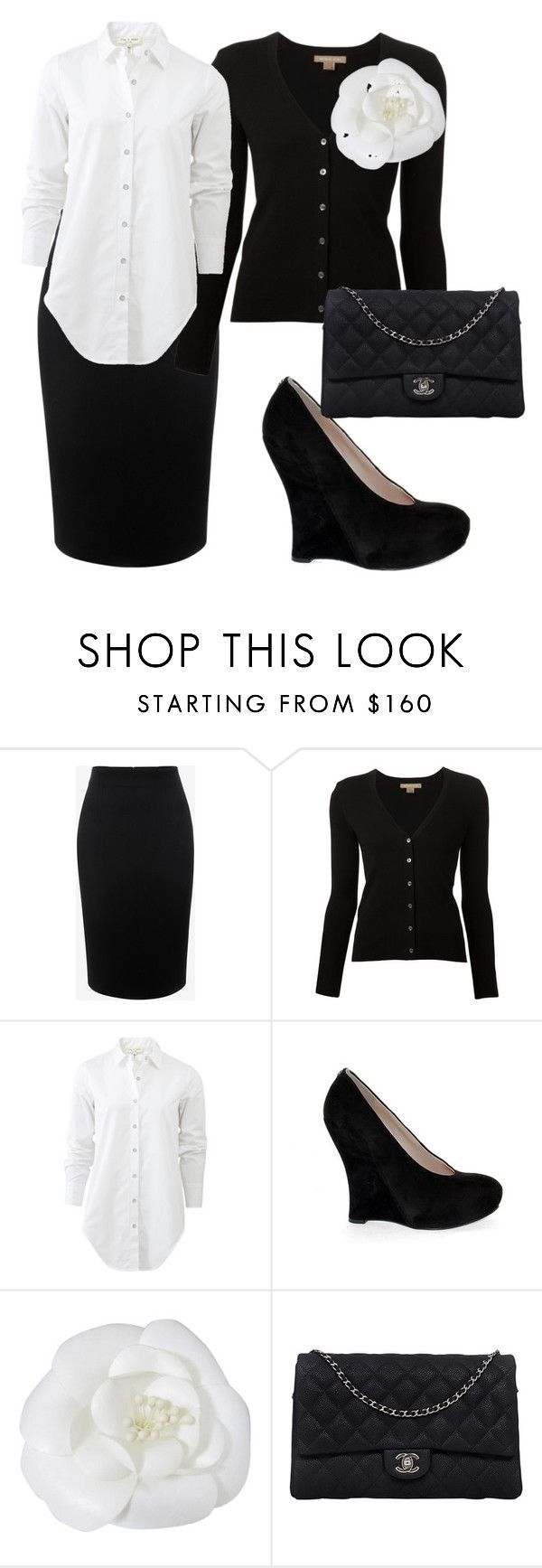 """""""Professional Teacher Outfit"""" by samantha-griego on Polyvore featuring Alexander McQueen, Michael Kors, rag & bone, GUESS and Chanel"""